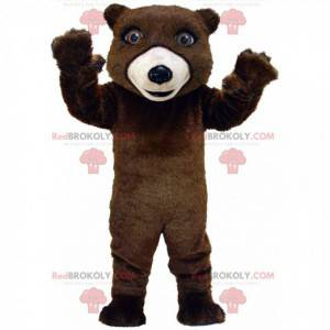 Large brown teddy mascot, brown bear costume - Redbrokoly.com
