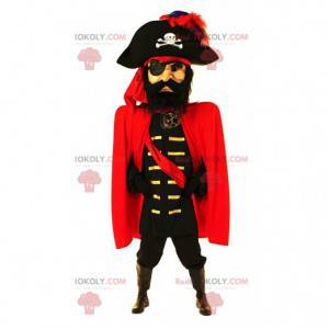 Pirate captain mascot, grand pirate costume - Redbrokoly.com