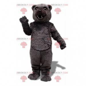 Bärenmaskottchen, brauner Grizzlybär, großes Bärenkostüm -