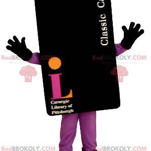 Gigantisk svart kort maskot - Redbrokoly.com