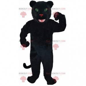 Mascotte zwarte panter, gigantisch katachtig kostuum -