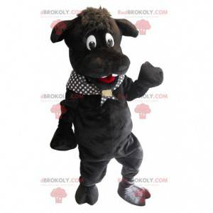 Grote zwarte nijlpaard mascotte - Redbrokoly.com