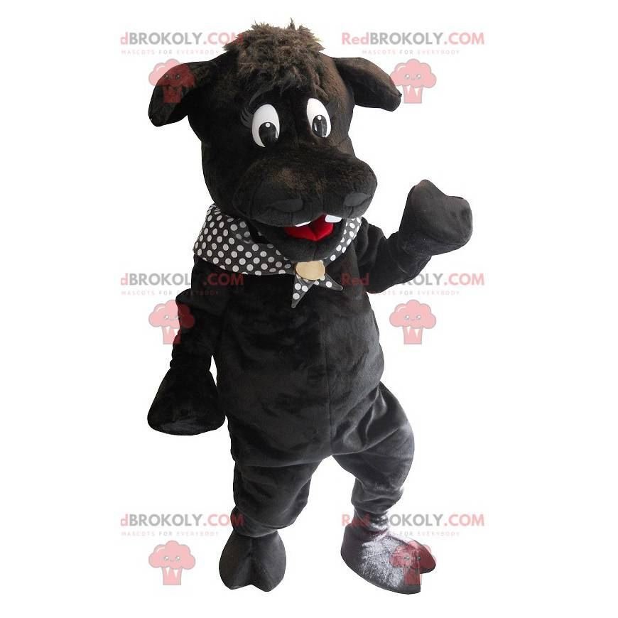 Velký černý hroch maskot - Redbrokoly.com