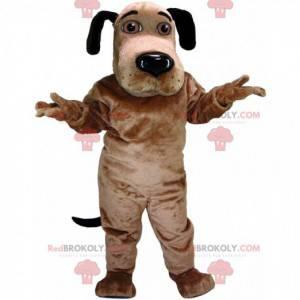 Hnědý a černý pes maskot s hnědýma očima - Redbrokoly.com