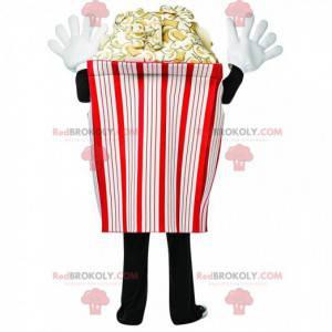 Gigante cono di popcorn mascotte, costume da popcorn -
