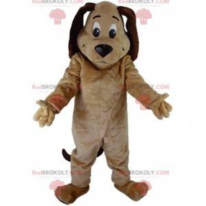Beige og brun hundemaskot, plysj hundedrakt - Redbrokoly.com