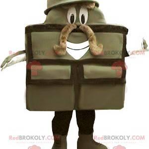 Mascote do soldado com mala militar - Redbrokoly.com