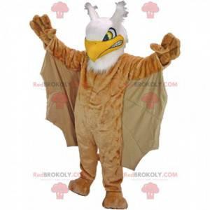 Velký maskot zlého ptáka, kostým hnědého griffina -