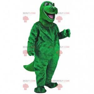Mascotte groene dinosaurus, reusachtig groot dinosauruskostuum