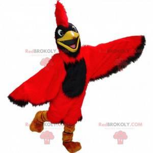 Czerwony kardynał maskotka, gigantyczny kostium ptaka -