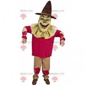 Mascote espantalho assustador, fantasia de terror -