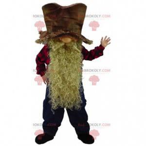 Mascotte nano barbuto, costume minatore, uomo minerario -
