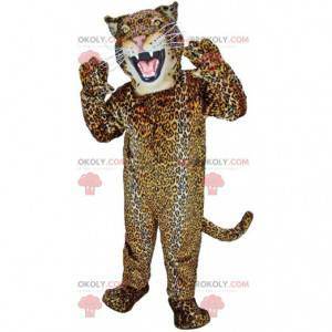 Mascotte feroce giaguaro, costume felino colorato -
