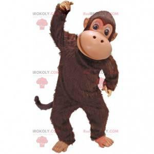 Bruine aap mascotte, marmoset kostuum, chimpansee -