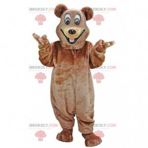 Happy bear maskot, smilende bamse kostyme - Redbrokoly.com