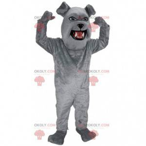 Giant bulldog mascot, plush gray dog costume - Redbrokoly.com