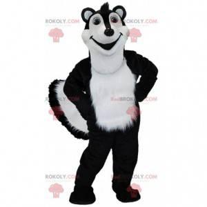 Black and white skunk mascot, giant polecat costume -