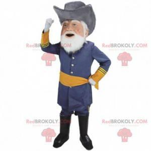 General, mascota militar, disfraz de hombre barbudo -