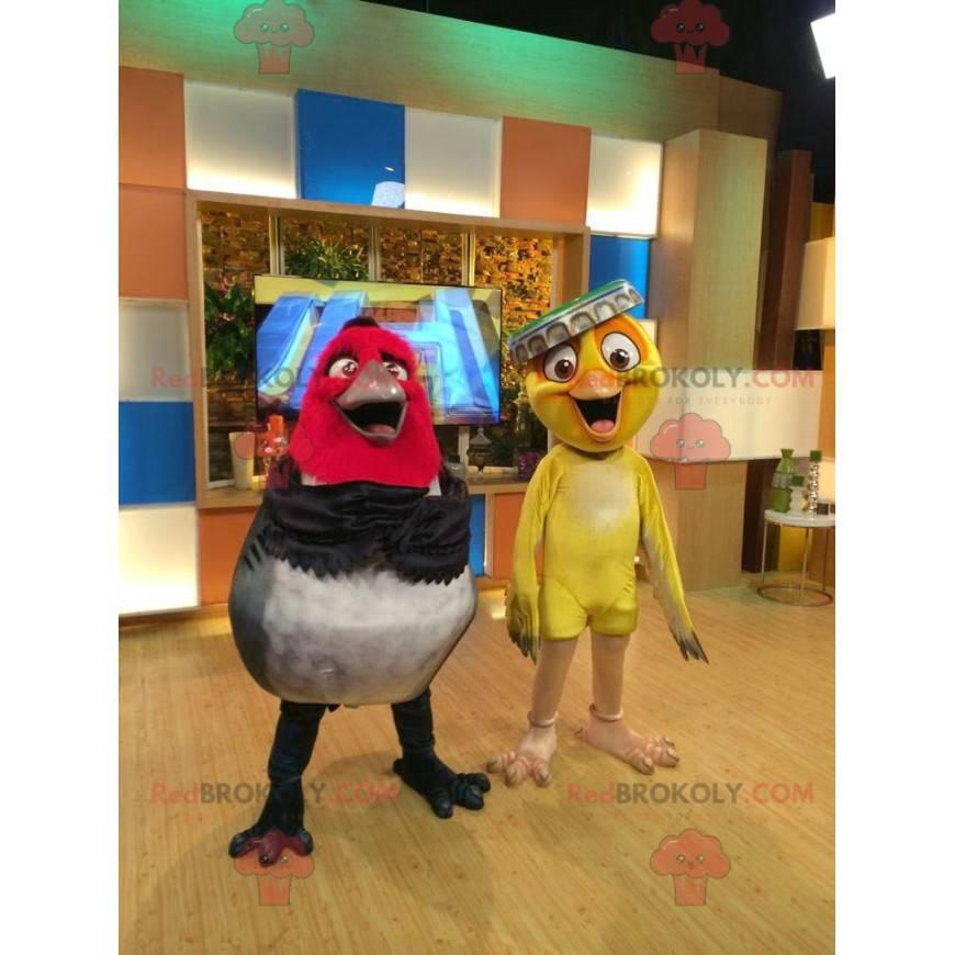 2 Maskottchen der berühmten Vögel des Rio-Cartoons -
