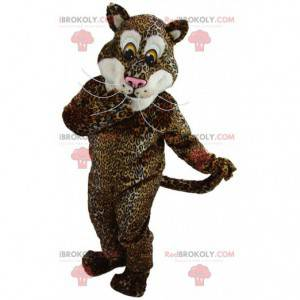 Gevulde jaguar mascotte, gigantisch katachtig kostuum -