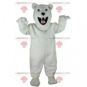 Maskotka niedźwiedź polarny, niedźwiedź grizzly, przerażający