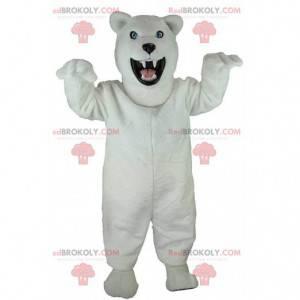 Polar bear mascot, grizzly bear, terrifying bear costume -