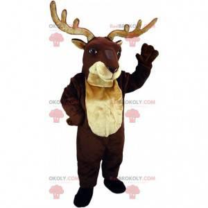 Mascota de reno, ciervo, ciervo, disfraz de caribú -