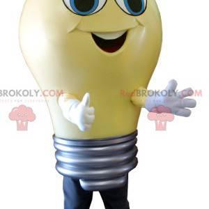 Obří žlutá žárovka maskot - Redbrokoly.com