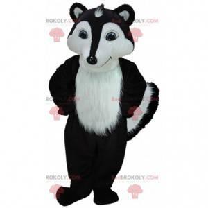 Mascote gambá preto e branco, fantasia de doninha gigante -