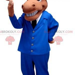 Mascote do alce caribu vestido como zelador - Redbrokoly.com