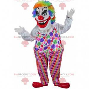 Ďábelský klaun maskot, strašidelný halloweenský kostým -