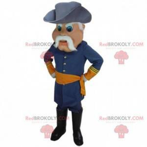 Mascot general de guerra, soldado, traje del ejército -