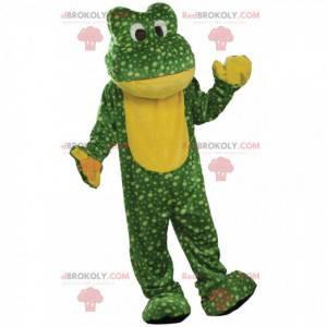 Grünes und gelbes Froschmaskottchen, Krötenkostüm -