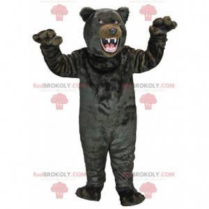 Velmi realistický maskot černého medvěda, kostým medvěda