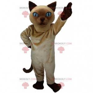 Siamese kat mascotte, realistisch kattenkostuum - Redbrokoly.com