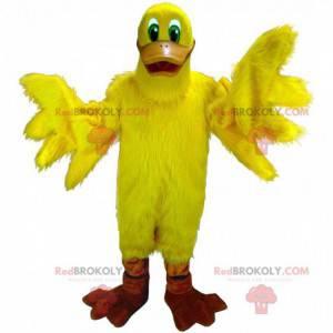 Mascotte gigante anatra gialla, costume uccello giallo -