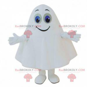 Weißes Geistermaskottchen mit blauen Augen, Geisterkostüm -