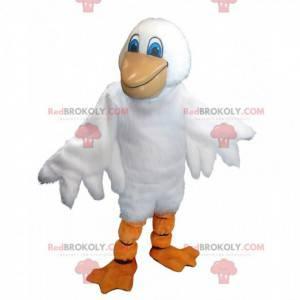 Maskot obřího pelikána, velký kostým mořského ptáka -