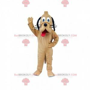 Mascot Pluto, de beroemde gele hond van Mickey Mouse -