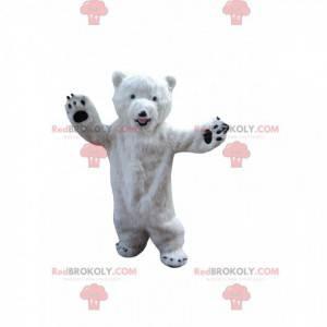 Hvit bamsmaskot, isbjørndrakt - Redbrokoly.com