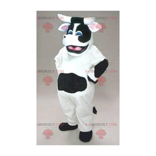 Černá a bílá kráva maskot - Redbrokoly.com