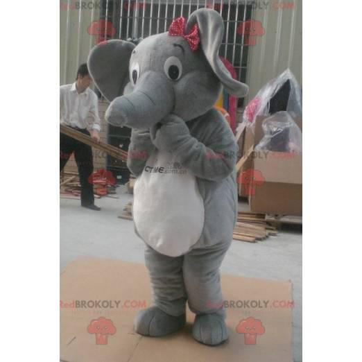 Maskottchen des grauen und weißen Elefanten - Redbrokoly.com