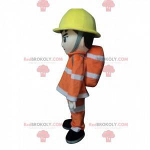 Brandweerman mascotte outfit, brandweerman kostuum -