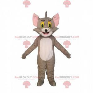 Mascote Tom, o famoso gato cinza do desenho animado Tom e Jerry