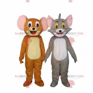 2 Maskottchen von Tom & Jerry, berühmten Comicfiguren -
