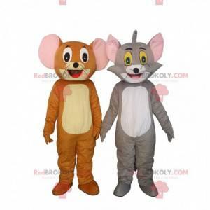 2 maskotter af Tom & Jerry, berømte tegneseriefigurer -