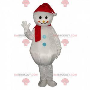 Mascote gigante do boneco de neve, fantasia de inverno -