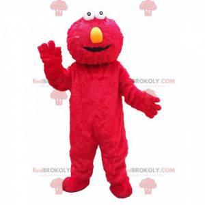 Mascota de Elmo, el famoso títere rojo de los Muppets -