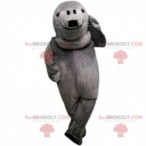 Mascotte foca grigia, costume da leone marino gigante -