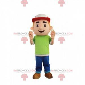 Lille dreng maskot, teenager kostume - Redbrokoly.com